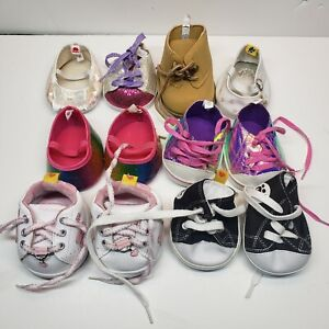 Build A Bear Shoe Lot Skechers Colorful Boot High Top Black Sneakers