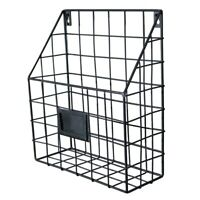 Wall Mount Magazine File Rack Holder Metal Mesh Wire Shelf Office Storage Holder