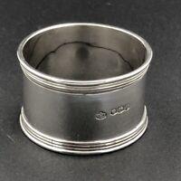 Sterling silver plain napkin ring Sheffield 1938