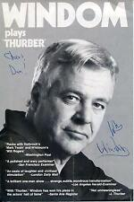 WILLIAM WINDOM ACTOR IN THE TWILIGHT ZONE SIGNED PHOTO THURBER AD AUTOGRAPH