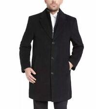 NEW!! Kirkland Men's Black Wool Cashmere Blend Overcoat Dress Coat Size 42 Reg