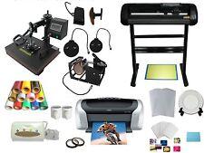 New Vinyl Cutter 5in1 Heat Press Printer Vinyl  T-shirt Transfer Start-up Kit