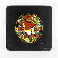 Mexican Presentation Plate - Wooden With Metal Image