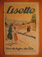 LISETTE N° 26 du 26/06/1938 -18 ème année -éditions de Montsouris