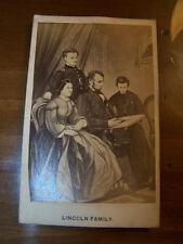 Abraham Lincoln and Family Civil War Era Carte De Visite CDV