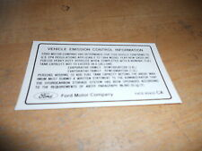 1994 Ford Explorer Ranger Aerostar Emissions Comp Decal