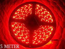 5 METER HIGH QUALITY RED 60 LED BLACK PCB WATERPROOF 5050 SMD LED STRIP