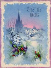Vintage Christmas Greeting Card Images CD V12