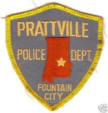 PRATTVILLE ALABAMA FOUNTAIN CITY  POLICE  PATCH
