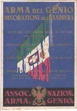 A1014) ARMA DEL GENIO DECORAZIONI ALLA BANDIERA.