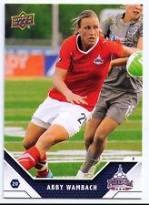 Abby Wambach women's women soccer trading card Washington Freedom WPS USA