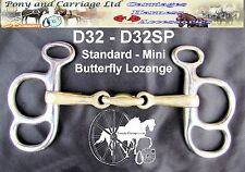 Carriage Driving Butterfly Lozenge Horse Bit Style D32 Mini - Large