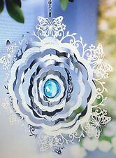 Windspiel Schmetterling NEU  tolle Dreheffekte aus Edelstahl in silberfarben