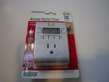 New ! Westinghouse Weekly Digital Timer Indoor only  for 120V T28442
