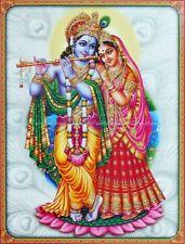 Radha Krishna Indian Hindu Gods paper poster fine art posters