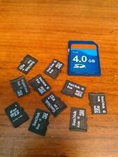 Memory card lot assorted 11 pieces Micro SD and Regular SD