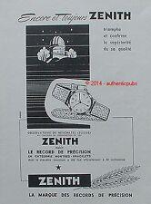 PUBLICITE MONTRE ZENITH OBSERVATOIRE NEUCHATEL SUISSE DE 1951 FRENCH AD ADVERT