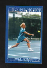 Hillsdale Chargers--1999 Tennis Pocket Schedule