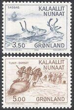 Greenland 1981 Hunting/Hunters/Reindeer/Animals/Nature/History 2v set (n43671)
