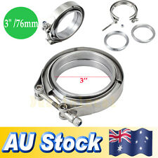 "3.0"" V Band Clamp 76mm Stainless Steel Turbo Downpipe Female Male Flange Kits"