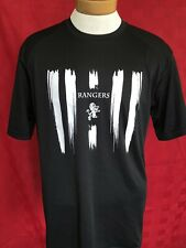Black Leads Rangers dry fit Jersey shirt size large Scotland Uk Eufa Usa