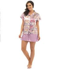 Floral Satin Pyjama Sets Short Women's Lingerie & Nightwear