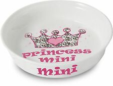 Personalised Pink Princess Pet Dog/Cat Food/Water Bowl - Ceramic - Any Name