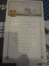Paquebot Albertville Congo Belge - menu dîner de Noël 1932 EXCEPTIONNEL