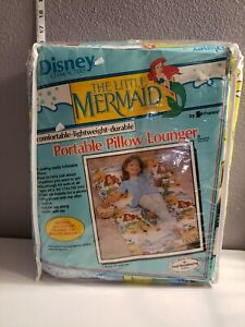 Vintage Disney Little Mermaid Princess Ariel Portable Pillow Lounger
