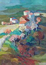 "Pittore Renato NESI (Treviso 1923 - 2004 ) dipinto  "" PAESAGGIO TREVIGIANO """