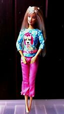 New Fashion Pet Barbie Doll Wearing Poodle Pup T-Shirt and pink Jeans. No box.