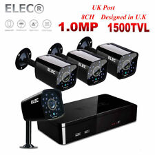 ELEC 1080N CCTV DVR 1500TVL IR-Cut 720P HD Outdoor Security Camera System 8CH