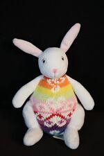 "Baby GAP Colorful Knit 6"" Bunny Rabbit Plush Toy Doll  2004"