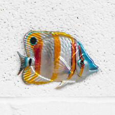 Small Butterfly Fish Metal Wall Art Nautical Bathroom Hanging Sculpture Ornament