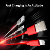 3/6/10 Feet Nylon Braided Fast Charging USB Charger Cable For iPhone X/Xs/Max/8