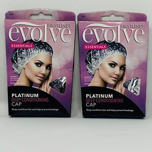 FIRSTLINE Evolve Platinum Deep Conditioning Caps Prevents Hair Breakage Lot of 2