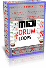 350,000 MIDI Drum Loops + Advanced Drum Machine fills breaks sequencer WIN - MAC
