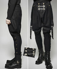Gothic Military Jodhpur Pants Trousers Steampunk Suspenders Stylish PunkRave Men
