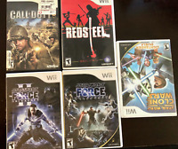 Nintendo Wii 5 Game Lot - Misc - see pics for titles - FREE S&H