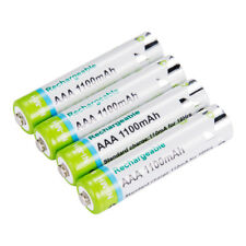4X AAA 1,2V Akku 1100 mAh Batterie 1000 Mal Hochleistung Wiederaufladbare Ni-MH
