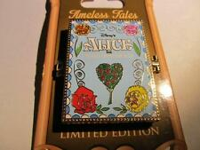 Disney Timeless Tales Pin Hinged Book Alice in Wonderland & Cheshire LE 3000 NEW