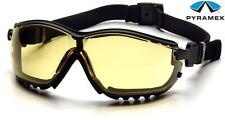 Pyramex V2G Yellow Anti Fog Lens Safety Glasses Sun Goggles Night Driving Z87+