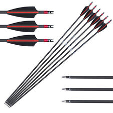 Newest 80% Carbon Archery Arrows SP340 Arrow High Quality For Bow Hunting X6