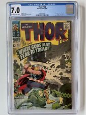 Thor 132 CGC 7.0 -- 1966 -- 1st app Ego in Cameo. Jack Kirby.