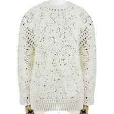 Stella mccartney ivoire cream chunky semi-transparent knitwear jumper sweater IT42 UK10