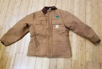 Mens brown Large Carhartt coat jacket insulated