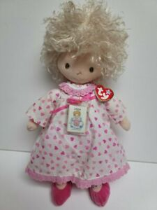 Ty Valentines Angeline Doll with Heart Dress & Tiny Story of Love Book-MWMT-16""