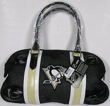 NHL Pittsburgh Penguins Mesh Loaf Tote Bag Black Purse