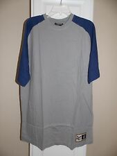 NEW Chase Authentics Drivers Line Gray & Blue Raglan T Shirt Mens Size L Large
