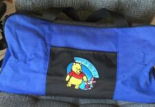 WINNIE THE POOH CANVAS CARRY ALL BLACK WITH WINNIE THE POOH AND PIGGLET ON FRONT